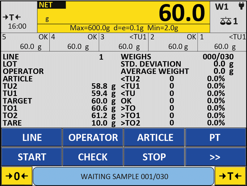 logiciel de pesage Dini AF04GT